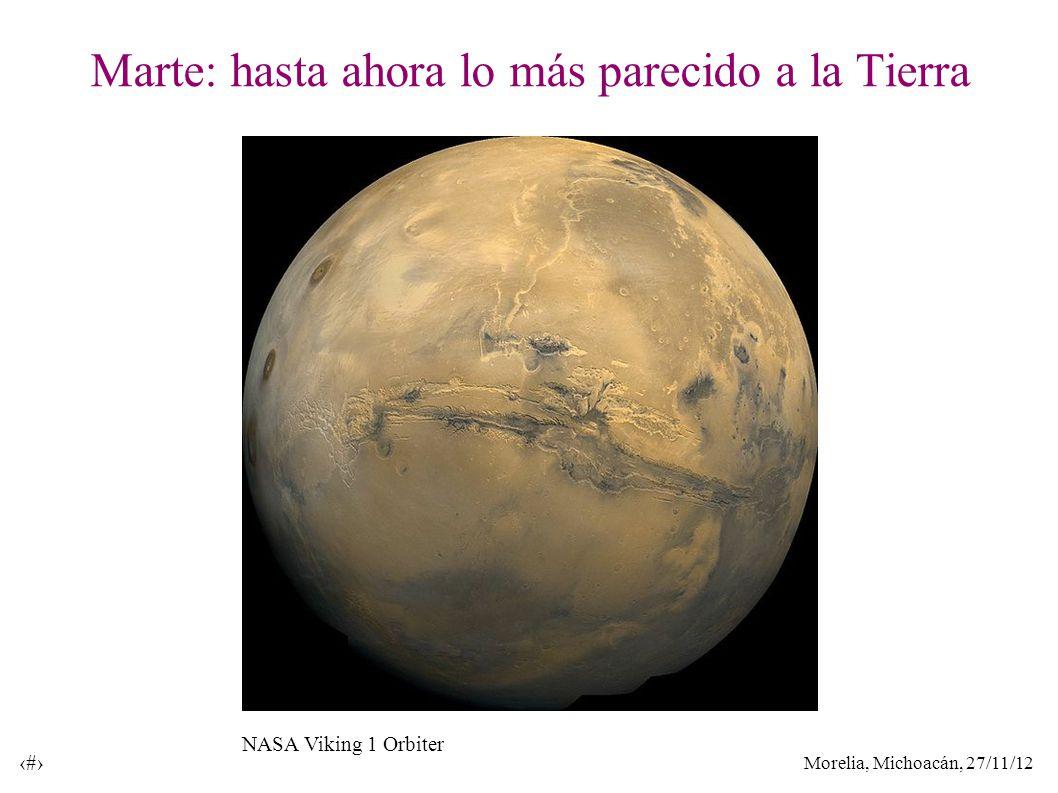 Morelia, Michoacán, 27/11/12 5 Marte: hasta ahora lo más parecido a la Tierra NASA Viking 1 Orbiter