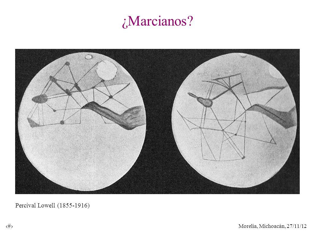 Morelia, Michoacán, 27/11/12 6 ¿Marcianos? Percival Lowell (1855-1916)