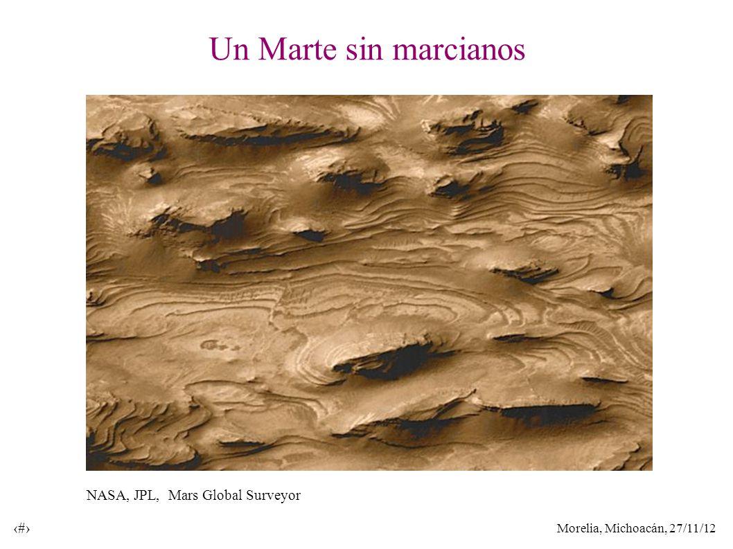 Morelia, Michoacán, 27/11/12 8 Un Marte sin marcianos NASA, JPL, Mars Global Surveyor