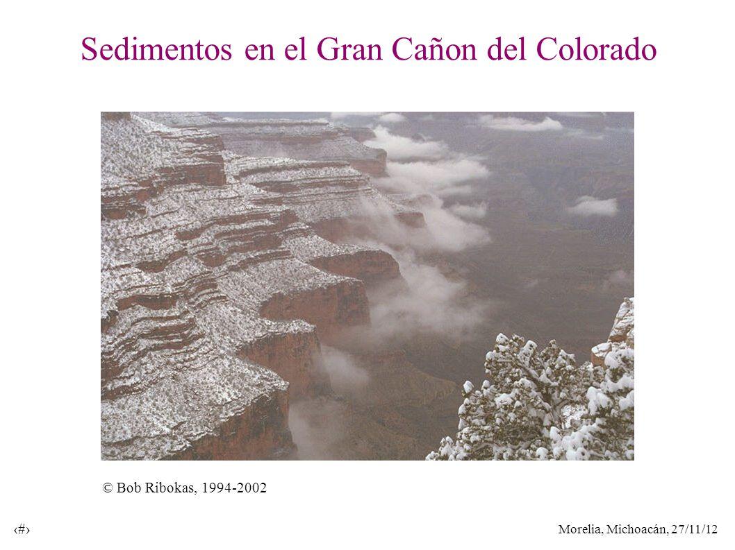 Morelia, Michoacán, 27/11/12 9 Sedimentos en el Gran Cañon del Colorado © Bob Ribokas, 1994-2002