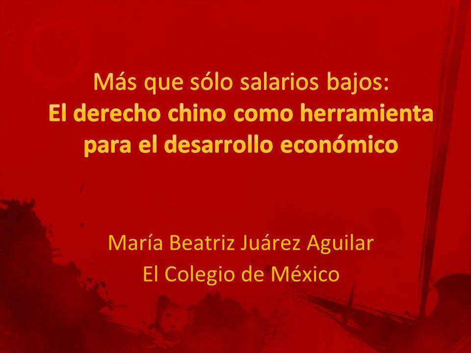 María Beatriz Juárez Aguilar El Colegio de México
