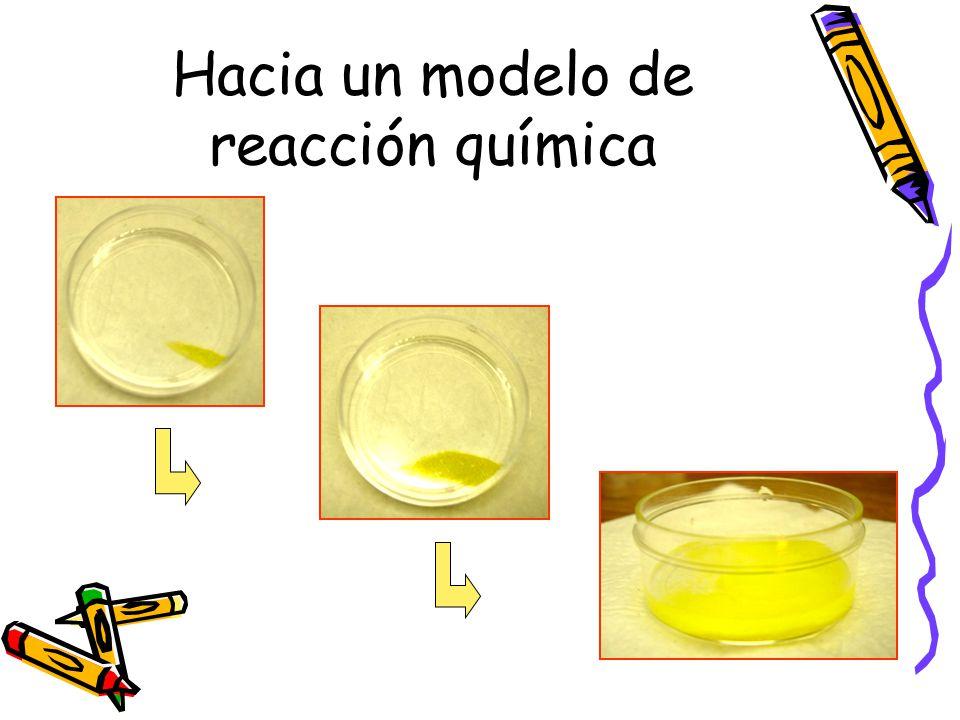 Hacia un modelo de reacción química
