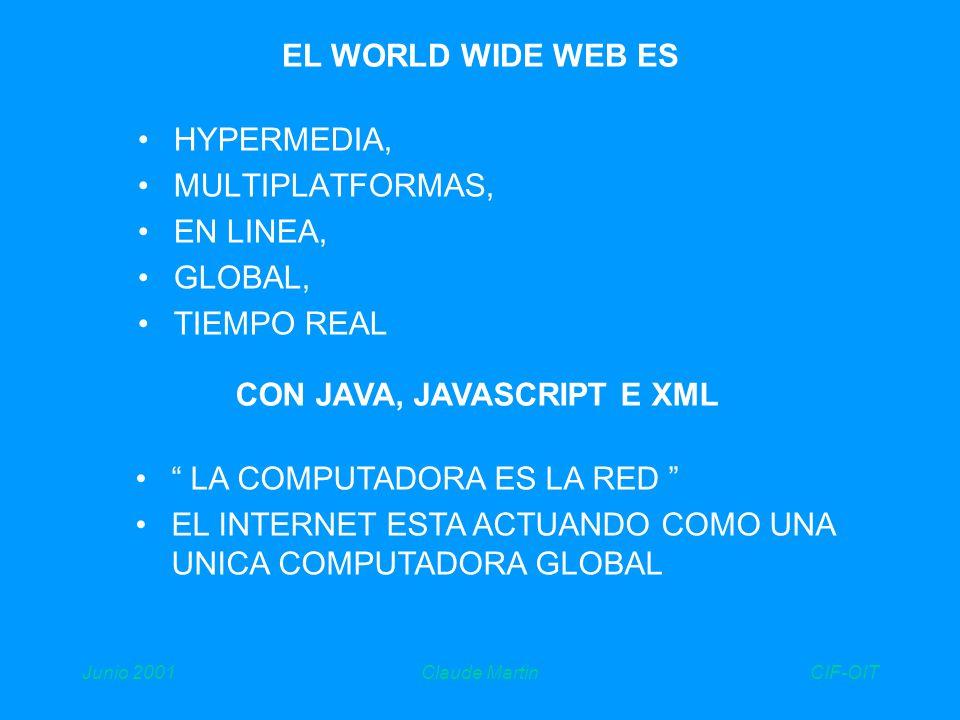 CIF-OITJunio 2001Claude Martin internet Colaboración assistida por computadora groupware EL INTERNET Y EL GROUPWARE