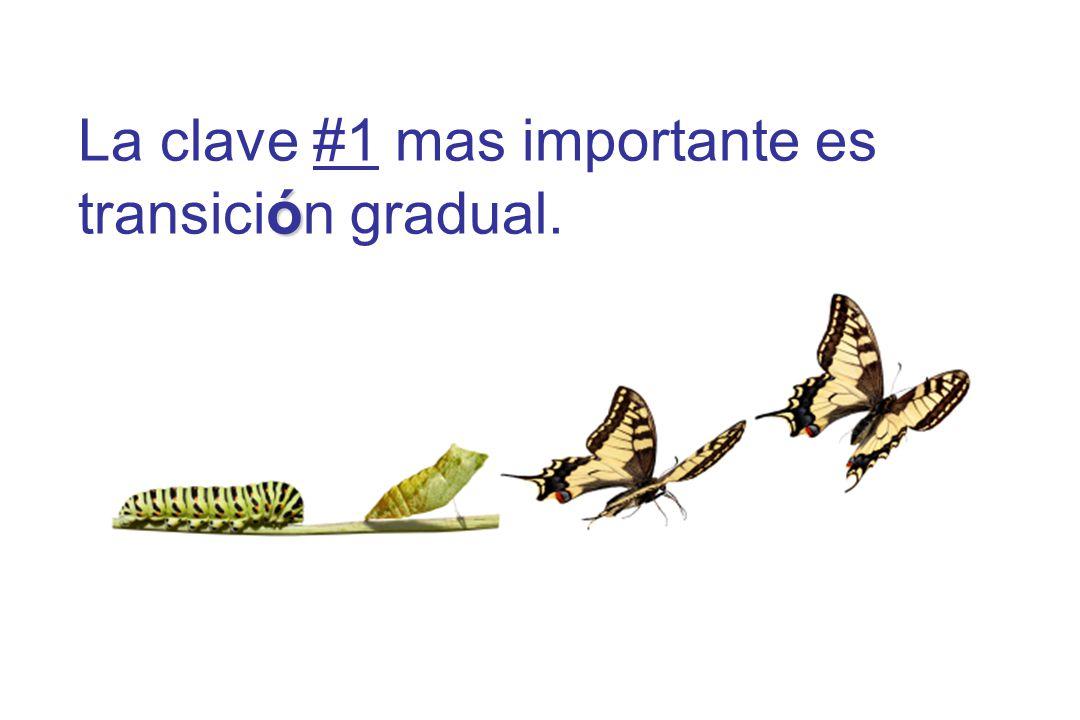 ó La clave #1 mas importante es transici ó n gradual.