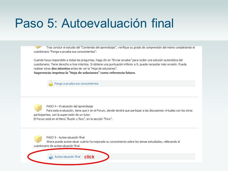 Paso 5: Autoevaluación final click