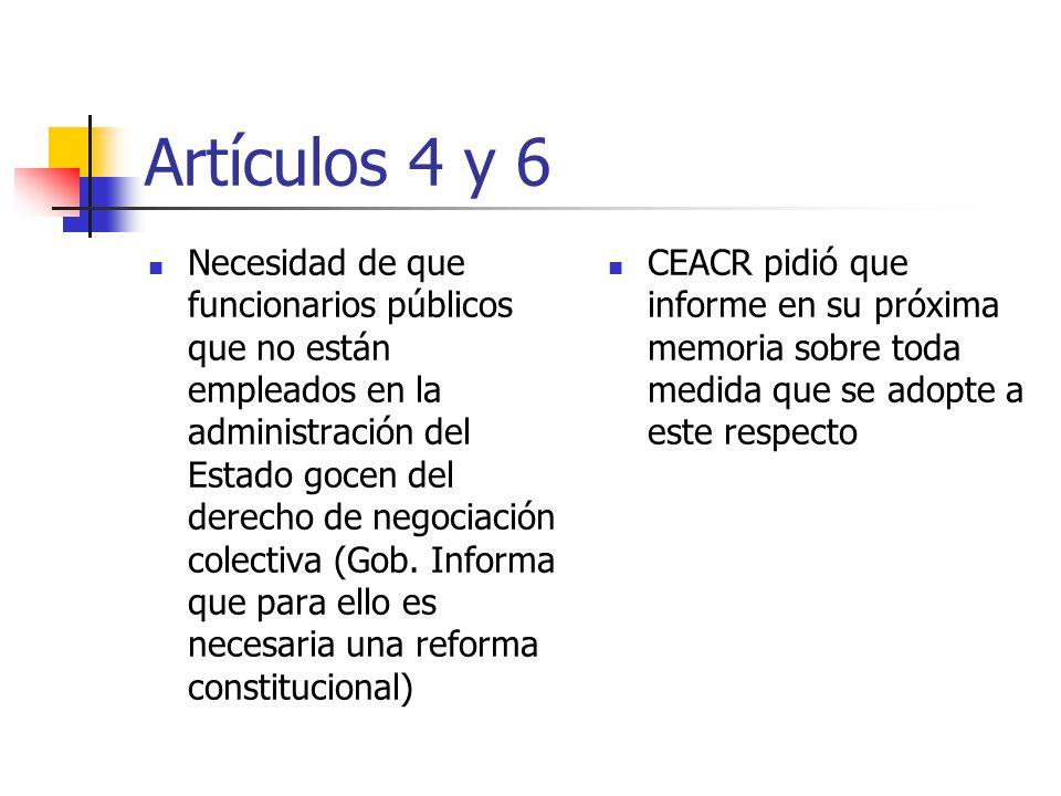 Solicitud Directa La Comisión se había referido al decreto núm.