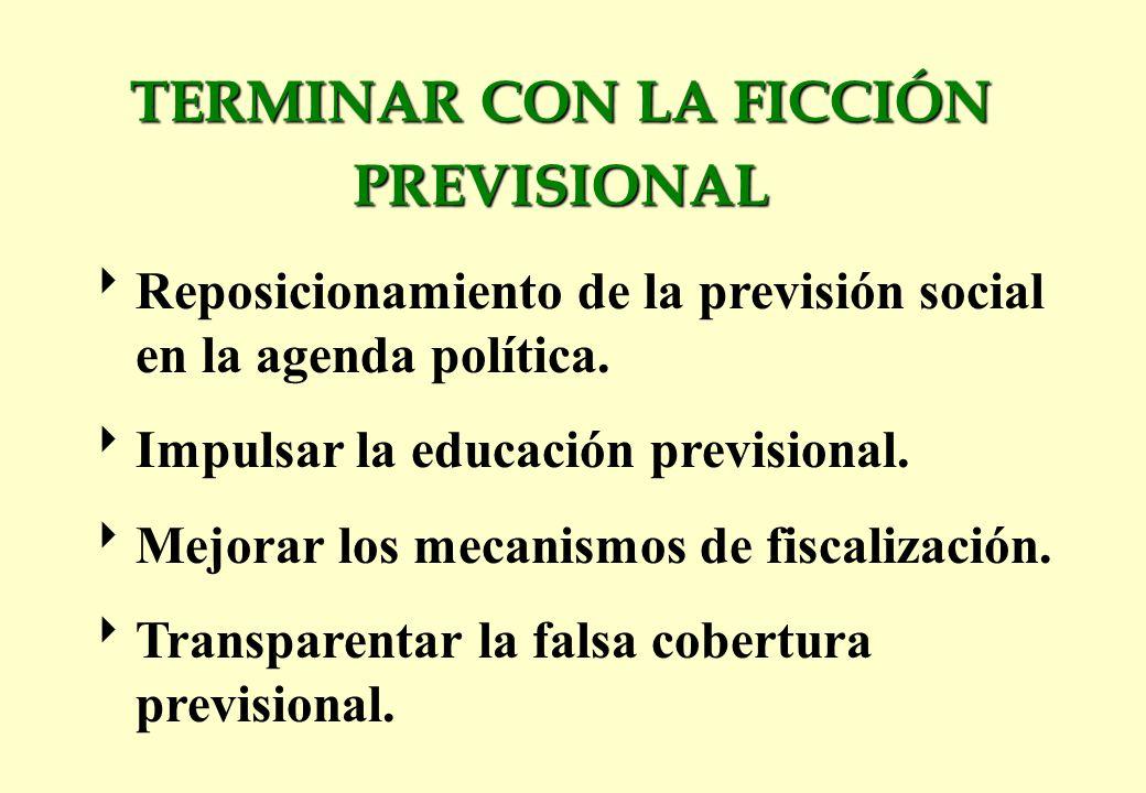 Reposicionamiento de la previsión social en la agenda política.