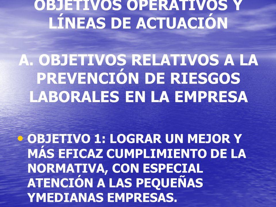 OBJETIVOS OPERATIVOS Y LÍNEAS DE ACTUACIÓN A.