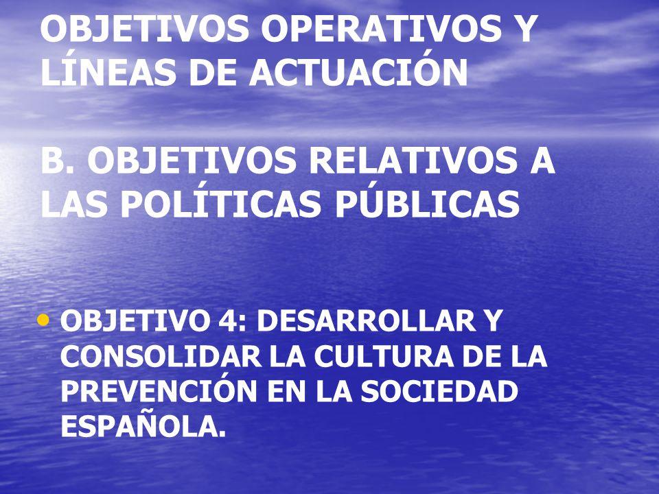 OBJETIVOS OPERATIVOS Y LÍNEAS DE ACTUACIÓN B.