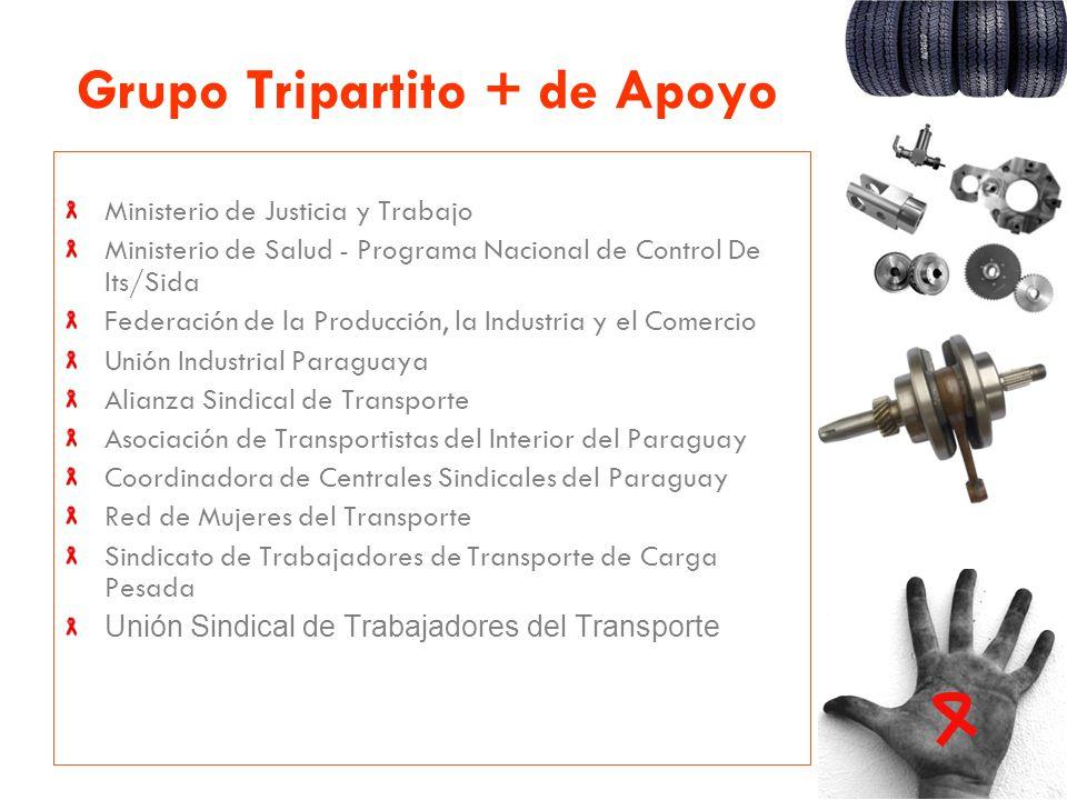 Grupo Tripartito + de Apoyo Ministerio de Justicia y Trabajo Ministerio de Salud - Programa Nacional de Control De Its/Sida Federación de la Producció