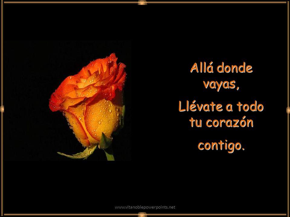 www.vitanoblepowerpoints.net Allá donde vayas, Llévate a todo tu corazón contigo.