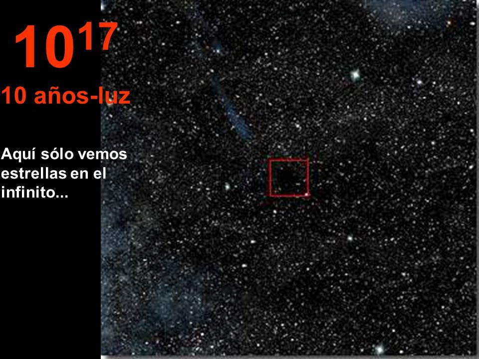 Aqui arribamos a otra grandeza... El año-luz La estrella Sol aparece muy pequeña. 10 16 1 año-luz