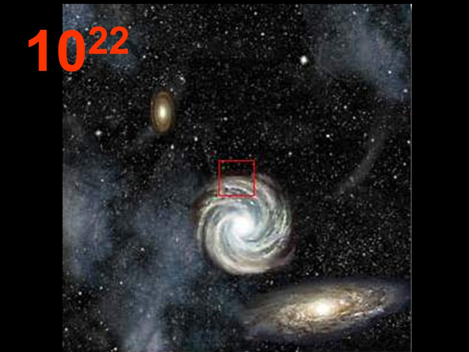Desde esta tremenda distancia del origen, las galaxias parecen pequeños conglomerados y, entre ellas, inmensos espacios vacíos.