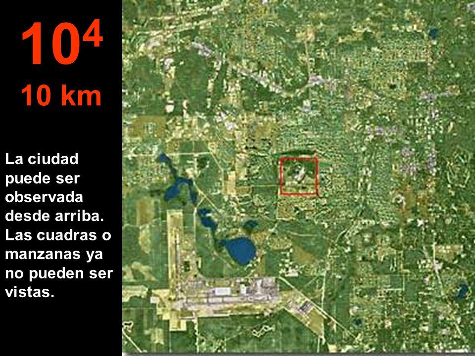 Acá pasamos de metros a km... Ya es posible saltar en paracaídas... 10 3 1 km