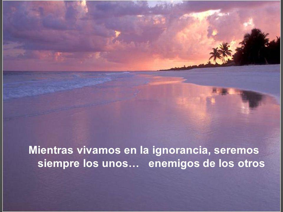 Por la ignorancia nos equivocamos, y por las equivocaciones aprendemos.