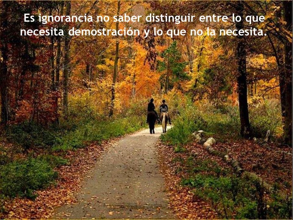 En la amistad y en el amor se es m á s feliz con la ignorancia que con el saber.