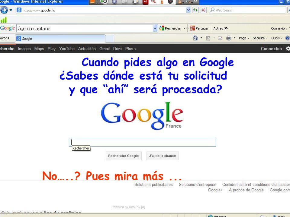 www.vitanoblepowerpoints.net Cuando pides algo en Google ¿Sabes dónde está tu solicitud y que ahí será procesada.