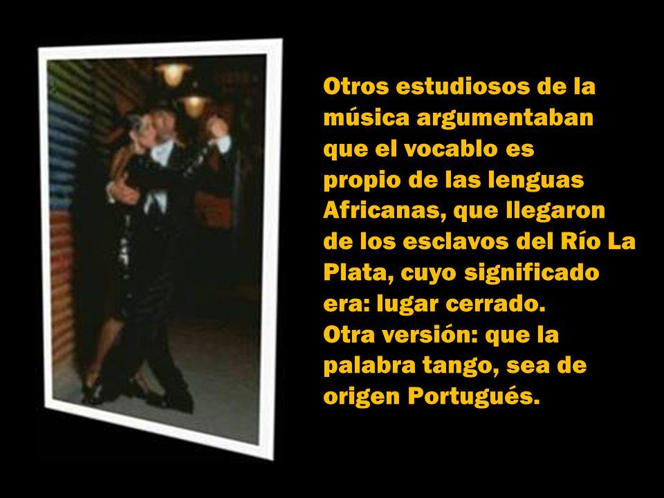 Sin embargo, debieron pasar 100 años, para que el diccionario definiera el tango como: baile Argentino de pareja enlazada…forma musical binaria y comp