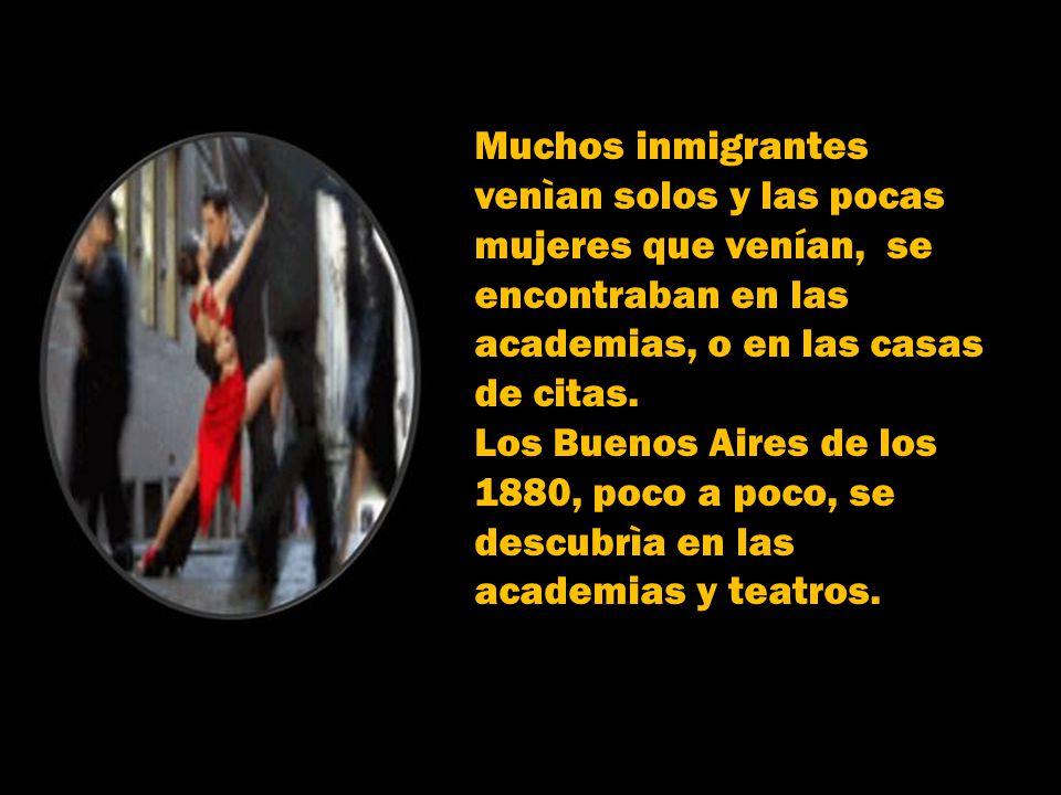 Mezcla de códigos cerrados y con lenguaje particular, el Tango germinaba en las calles de baile, orillaba el riachuelo, los boliches de carrera y cuar