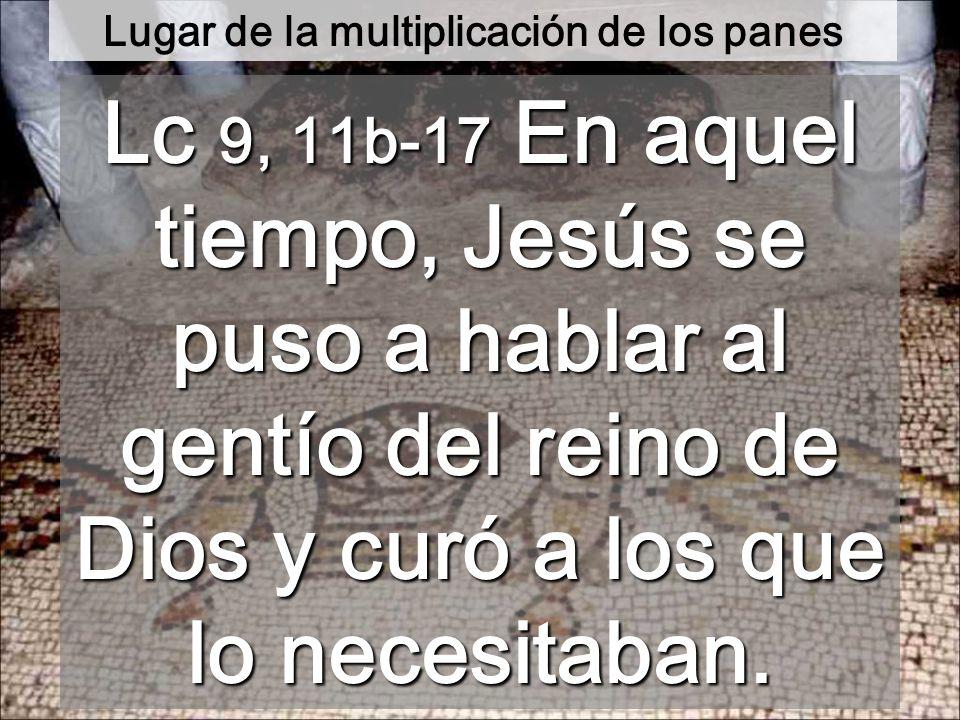 Jesús dijo a sus discípulos: Decidles que se echen en grupos de unos cincuenta. Lo hicieron así, y todos se echaron.