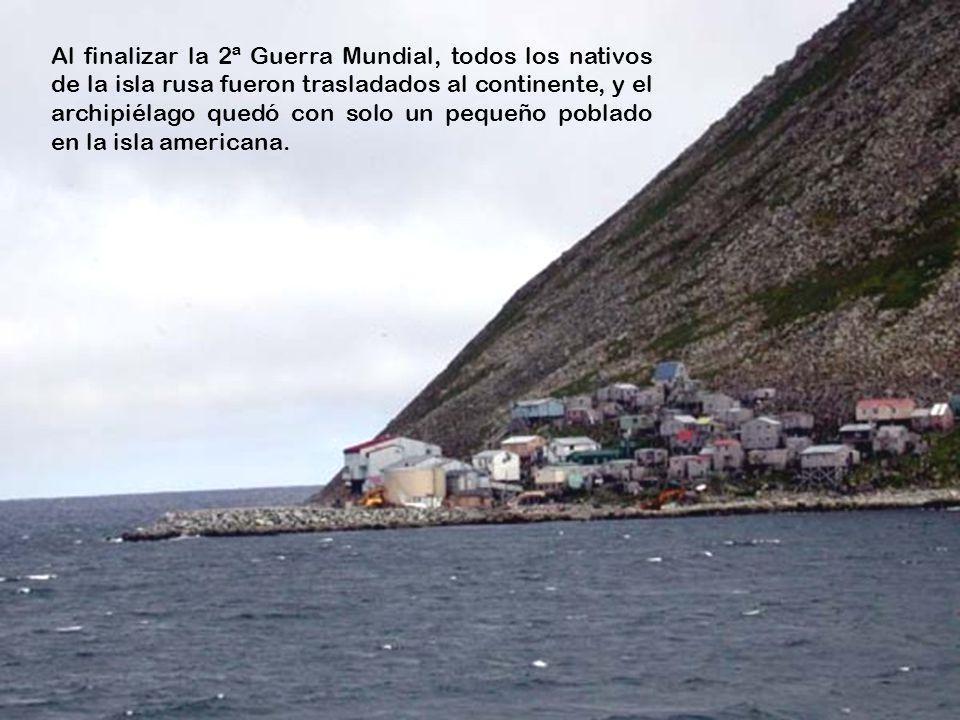 www.vitanoblepowerpoints.net Durante la Guerra Fría, los nativos que habitaban las islas antes de las colonizaciones rusa y americana tenían prohibido