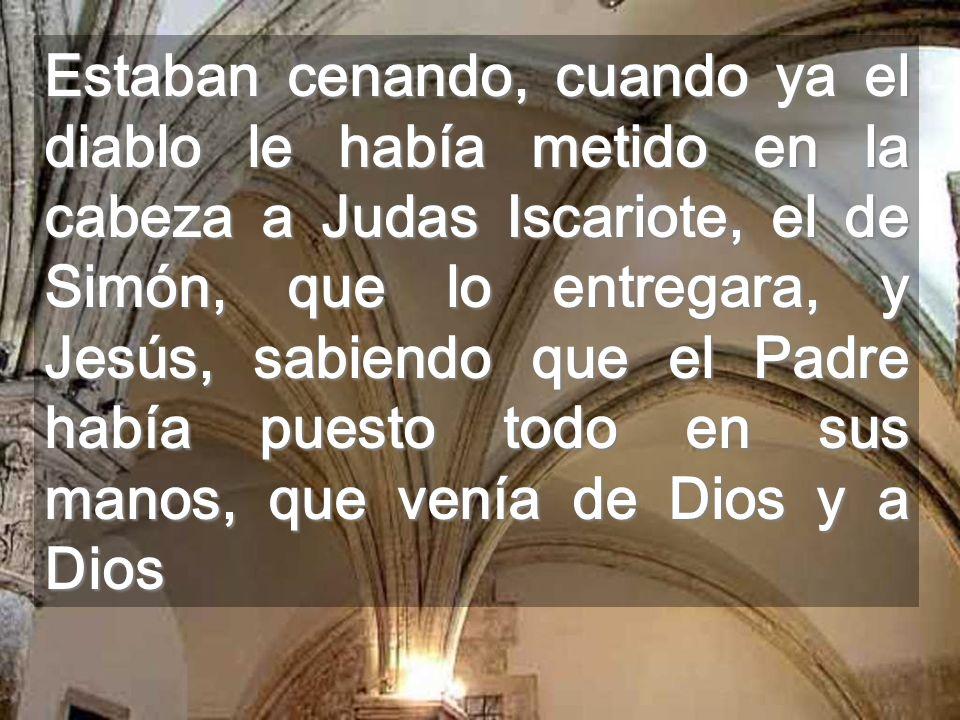Sabemos, Señor, hasta qué punto nos amas, cuando nos dejas como ejemplo Tu ser SERVIDOR Este es el gran sacramento Relieve del Cenáculo