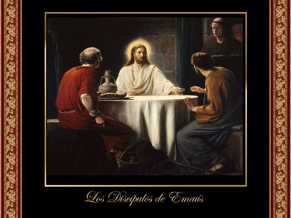 El final de la narración nos presenta a los discípulos corriendo a comunicar la noticia a los once y a sus compañeros (33).