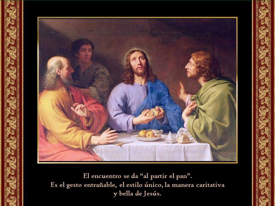 Jesús acepta la invitación a quedarse porque el camino que se inició con la Escritura termina en la acción sacramental del partir el pan.