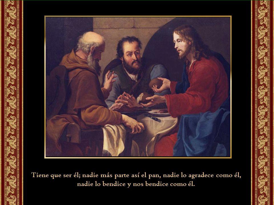 El encuentro se da al partir el pan. Es el gesto entrañable, el estilo único, la manera caritativa y bella de Jesús.