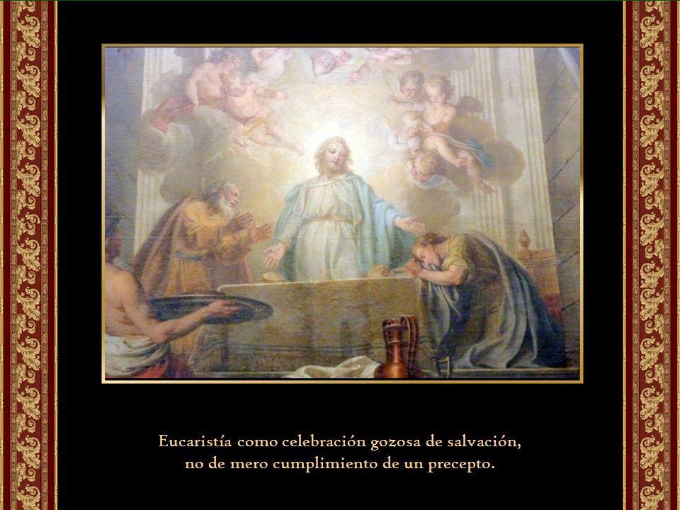 La Eucaristía, de cada domingo alimenta las actitudes que configuran la vida del cristiano desde el encuentro con Cristo y con los hermanos.