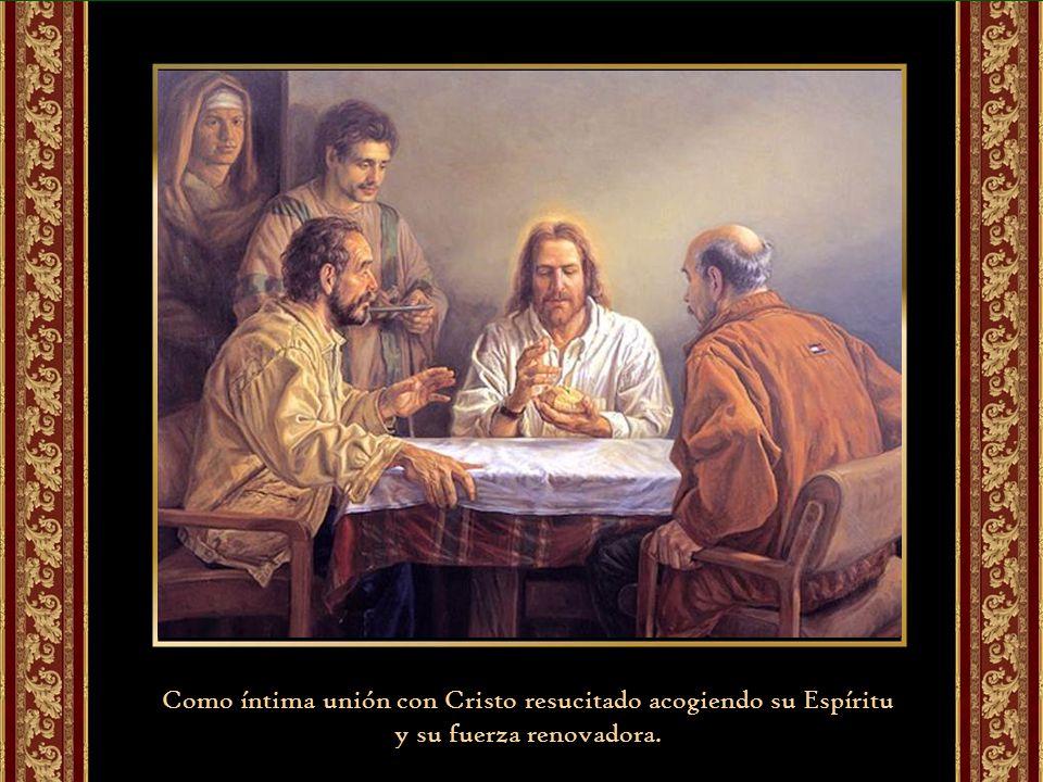 Eucaristía como celebración gozosa de salvación, no de mero cumplimiento de un precepto.