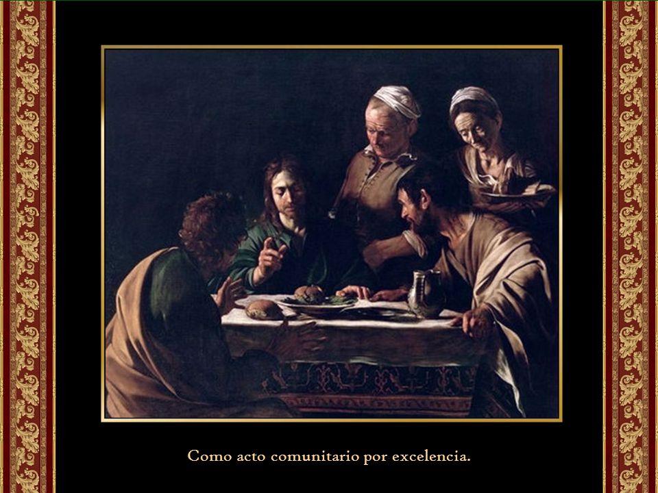 Como íntima unión con Cristo resucitado acogiendo su Espíritu y su fuerza renovadora.