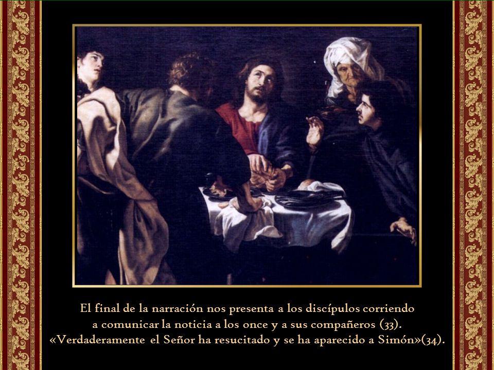 La Iglesia, entonces, hace para nosotros lo que Jesús hizo para los dos discípulos. Primero nos da la interpretación de las escrituras donde se relaci