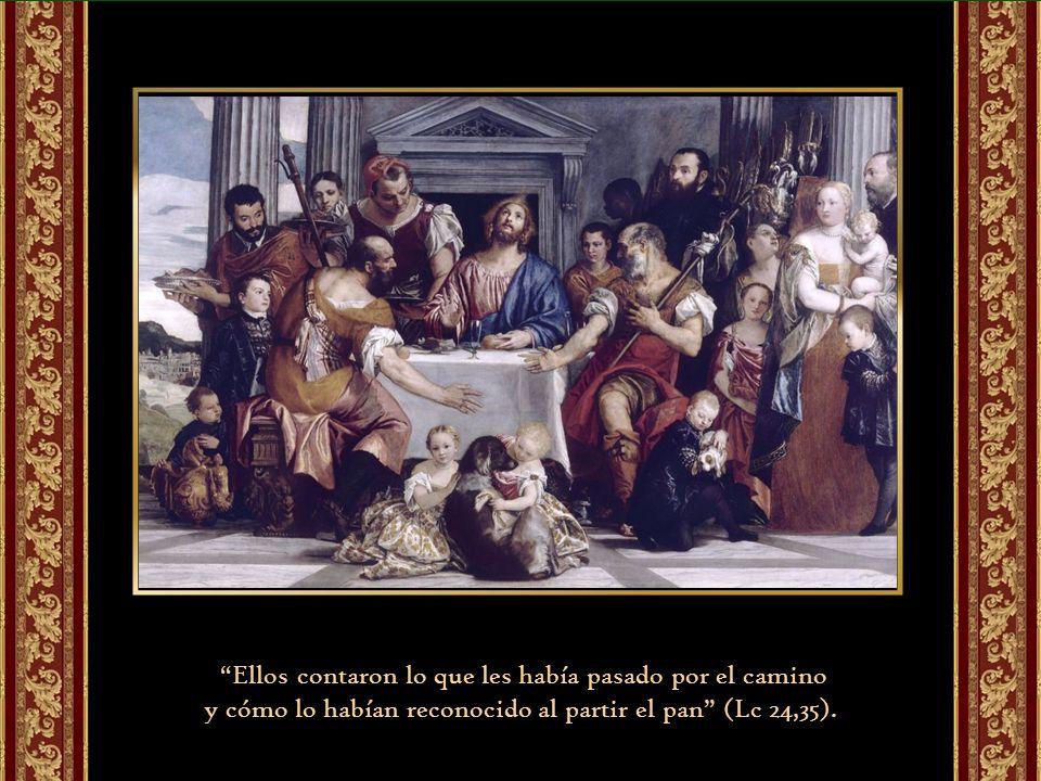 El final de la narración nos presenta a los discípulos corriendo a comunicar la noticia a los once y a sus compañeros (33). «Verdaderamente el Señor h