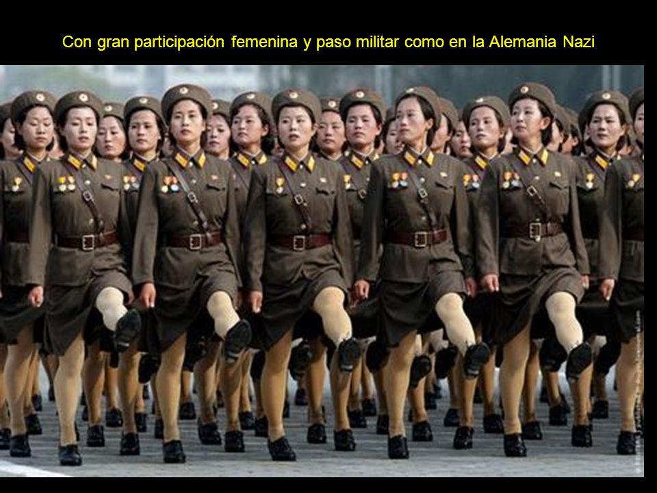 Los desfiles y actos partidarios de adhesión al régimen son muy comunes. Estadio