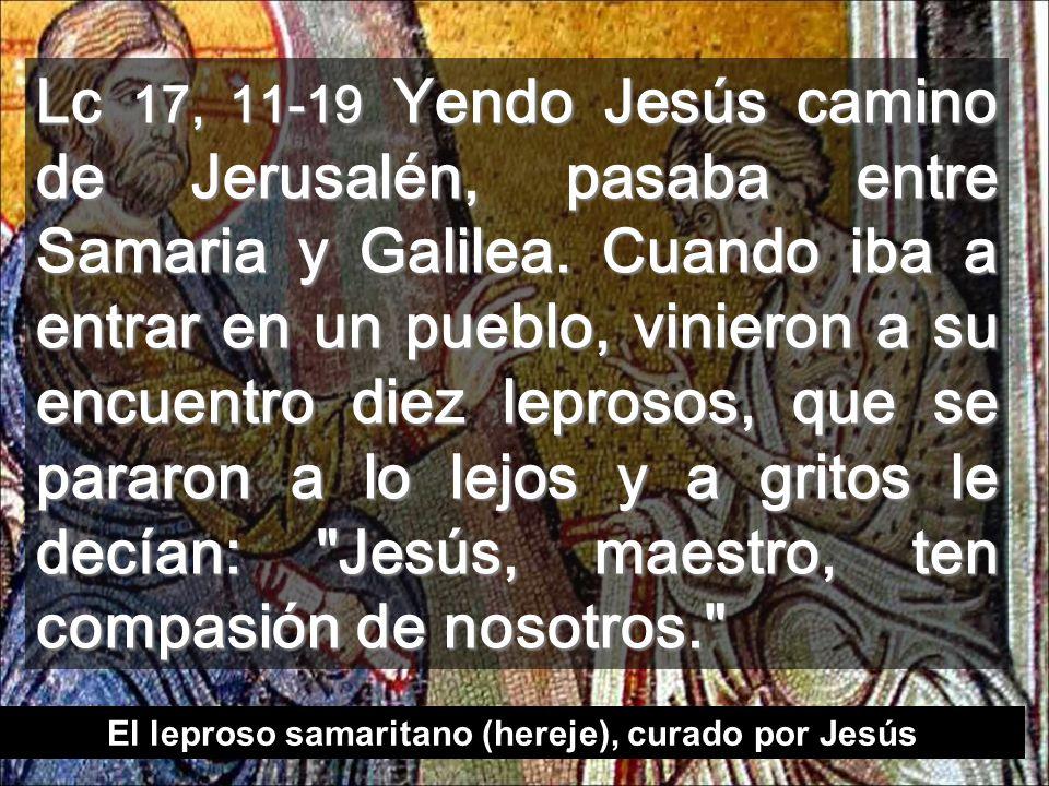 Jenin, lugar de los 10 leprosos (entre Galilea y Samaria) Recibimos el Reino agradecidos?