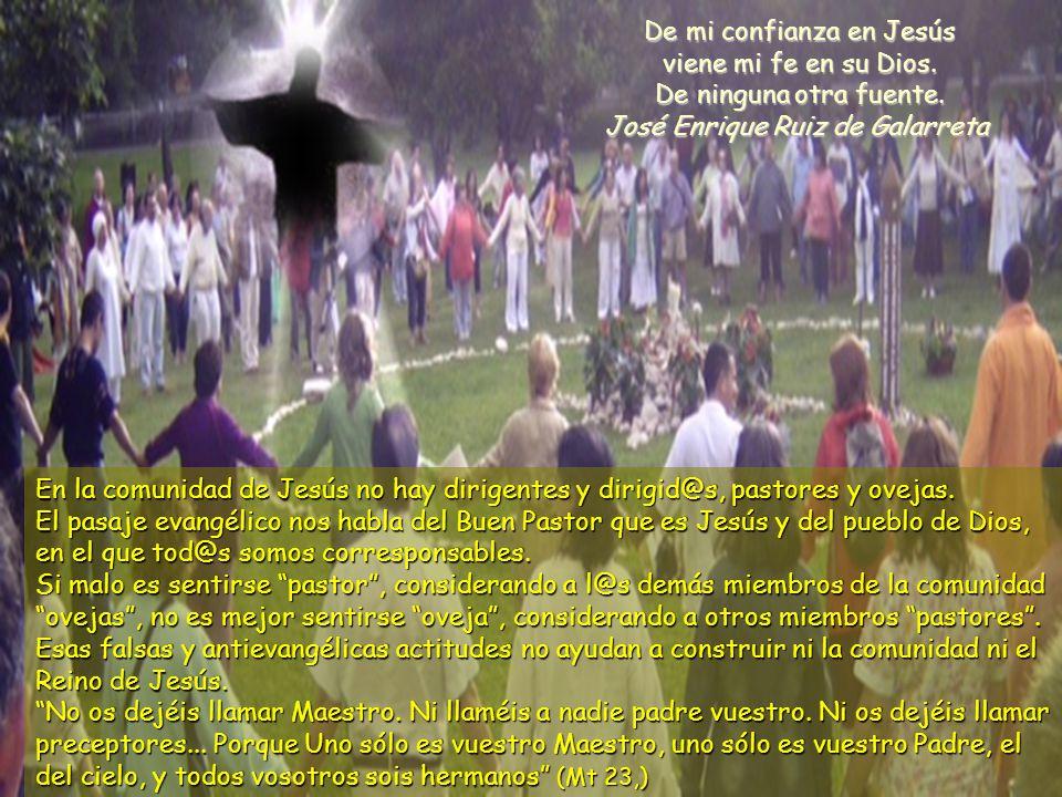 www.vitanoblepowerpoints.net En la comunidad de Jesús no hay dirigentes y dirigid@s, pastores y ovejas.