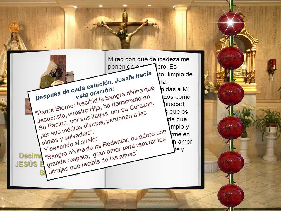 Decimatercera Estación: JESÚS EN LOS BRAZOS DE MARÍA SANTÍSIMA Mirad la caridad con que ese hombre justo se encarga de bajar mi Cuerpo de la Cruz. Lo