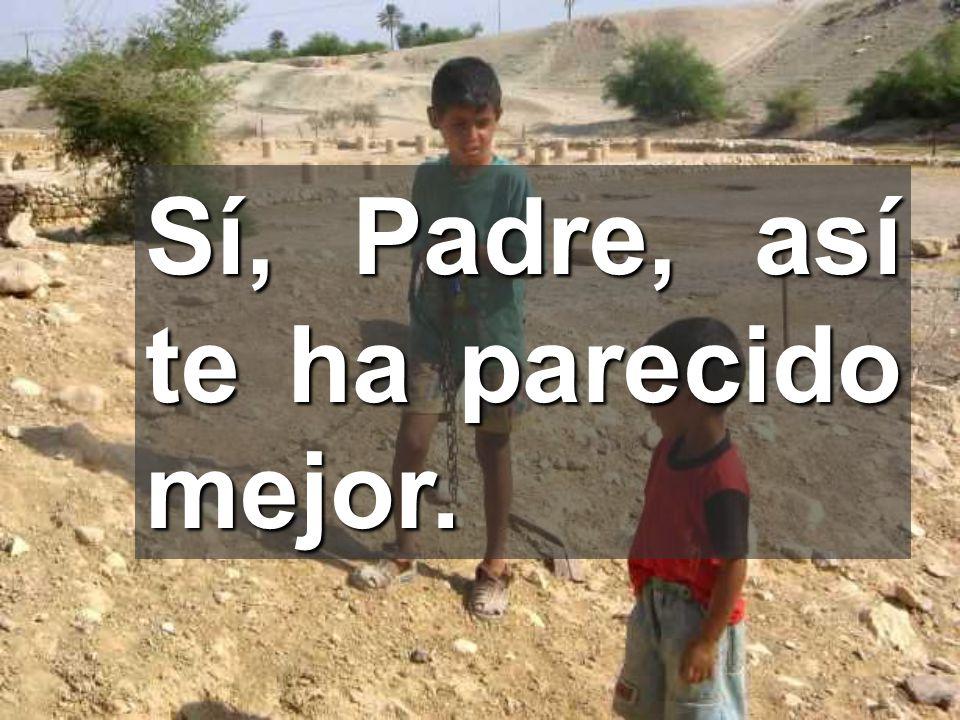 Gracias, Padre, porque te has acercado a los sencillos Los pequeños tienen ojos de esperanza
