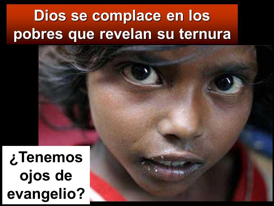Dios se complace en los pobres que revelan su ternura ¿Tenemos ojos de evangelio?