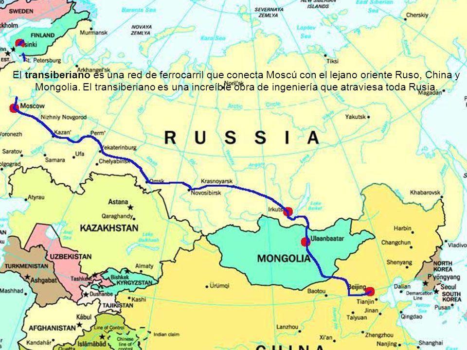 Vita Noble Powerpoints El transiberiano es una red de ferrocarril que conecta Moscú con el lejano oriente Ruso, China y Mongolia.