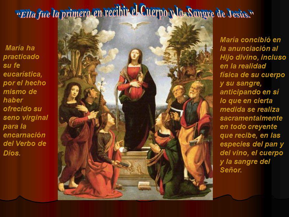 Con la solicitud materna que muestra en las bodas de Caná, María parece decirnos: « no dudéis, fiaros de la Palabra de mi Hijo.