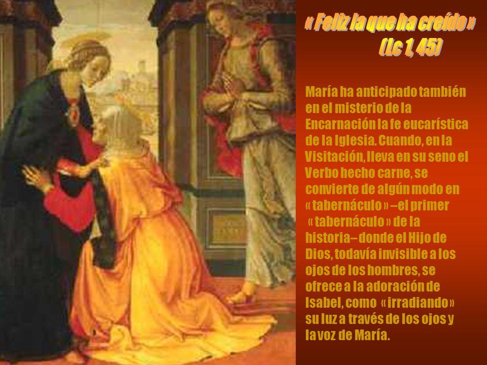 A María se le pidió creer que quien concibió por obra del Espíritu Santo era el « Hijo de Dios » ( Lc 1, 30.35).