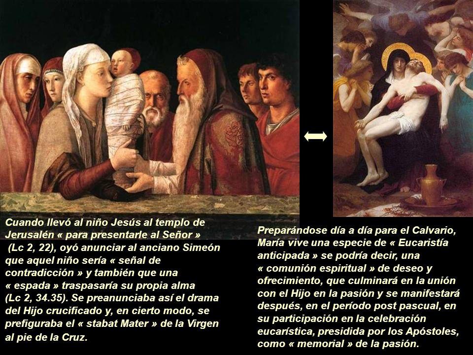 Y la mirada embelesada de María al contemplar el rostro de Cristo recién nacido y al estrecharlo en sus brazos… ¿no es acaso el inigualable modelo de amor en el que ha de inspirarse cada comunión eucarística?
