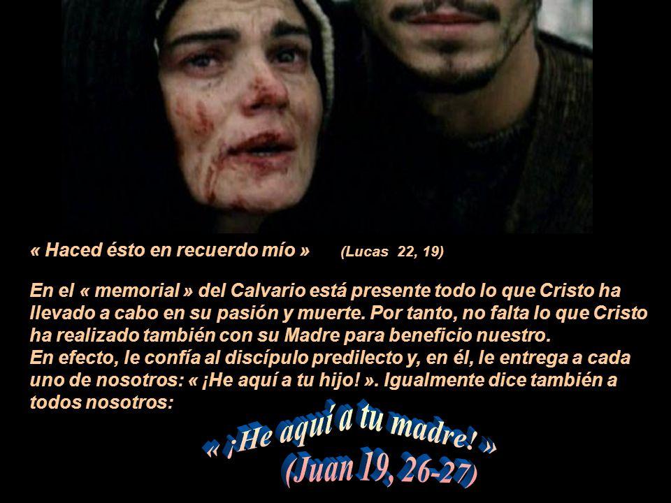 ¿Cómo imaginar los SENTIMIENTOS de María al escuchar de la boca de Pedro, Juan, Santiago y los otros Apóstoles, las palabras de la Última Cena: « Éste