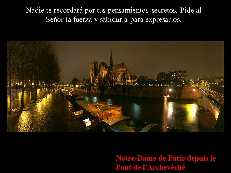 L'Ile de la Cité et Notre-Dame de Paris, Depuis le Port de l'Hôtel-de-Ville Mantén a los que amas cerca de ti, diles al oído lo mucho que los necesita