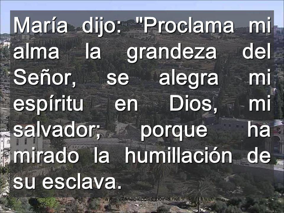 www.vitanoblepowerpoints.net Con la visita de Dios, MARIA queda llena Con la visita de María, nuestra casa se llena de la plenitud de Dios Interior de