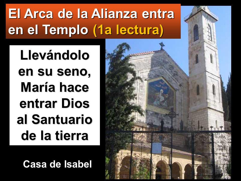 www.vitanoblepowerpoints.net El Arca de la Alianza entra en el Templo (1a lectura) Llevándolo en su seno, María hace entrar Dios al Santuario de la tierra Casa de Isabel