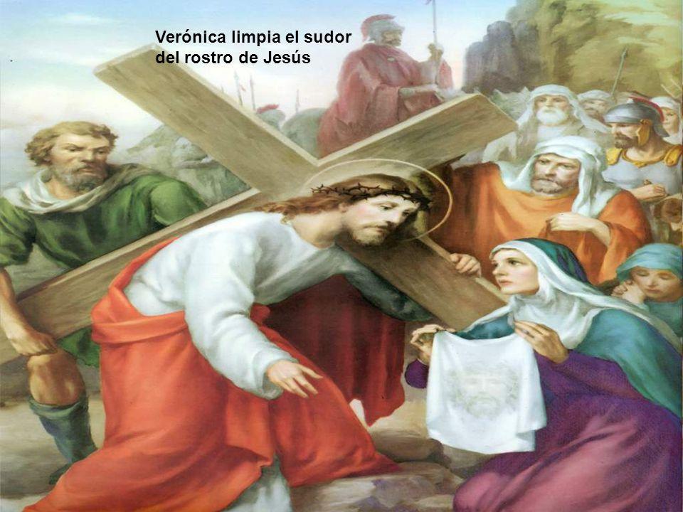 Verónica limpia el sudor del rostro de Jesús