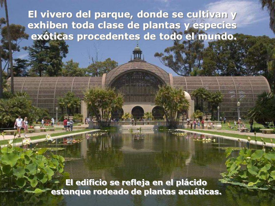 El vivero del parque, donde se cultivan y exhiben toda clase de plantas y especies exóticas procedentes de todo el mundo.